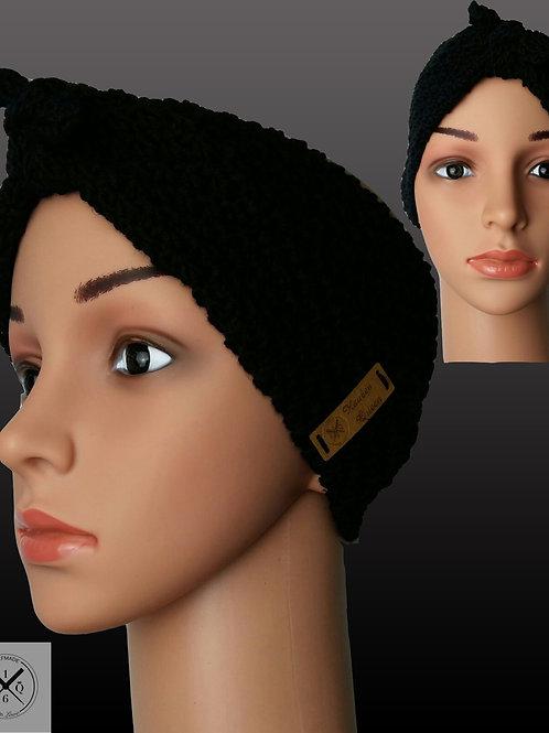Bandana Stirnband Schwarz