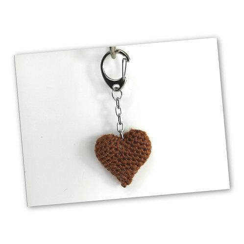 Schlüsselanhänger Herz schoko