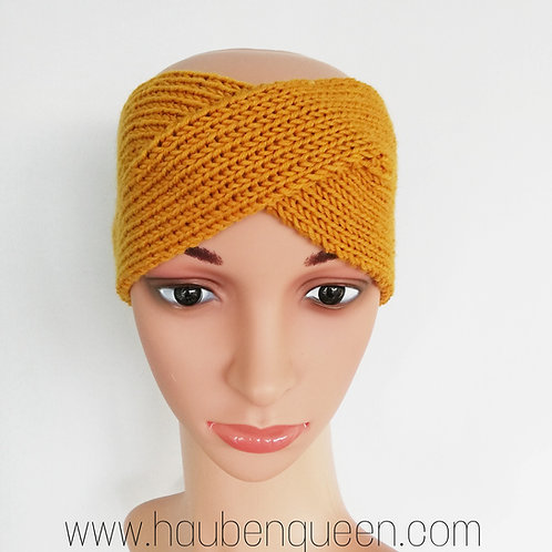 Stirnband Twist Merino Gold meliert