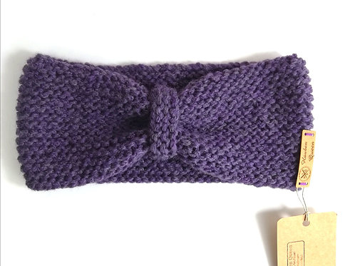 Stirnband Schleife lila