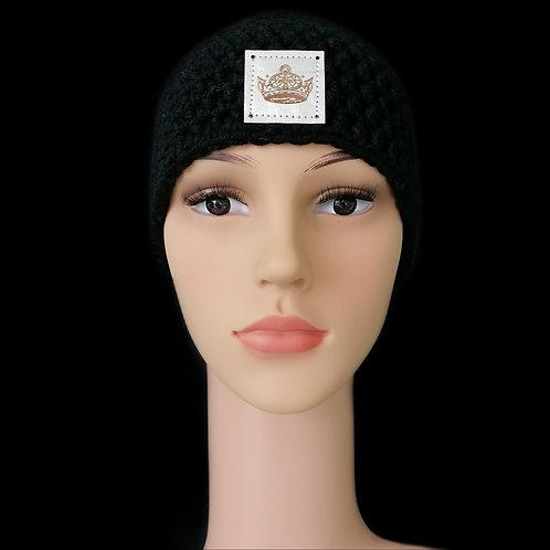 Modell Daisy Stirnband gehäkelt schwarz