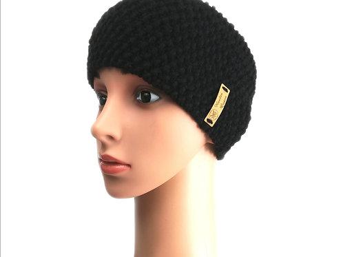 Stirnband Perlmuster schwarz