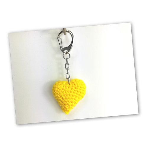 Schlüsselanhänger Herz löwenzahn