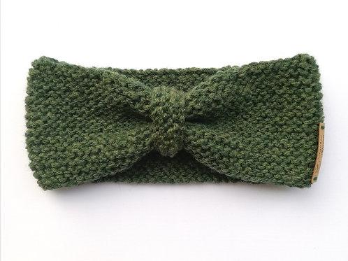 Stirnband Schleife moosgrün