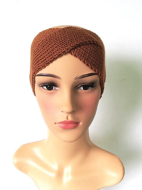 Stirnband Twist Merino Marone