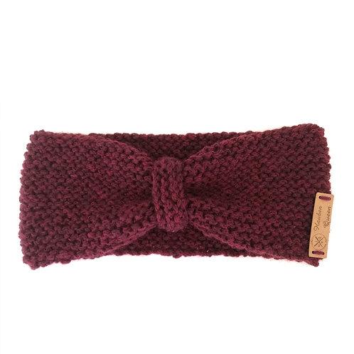 Stirnband Schleife burgund