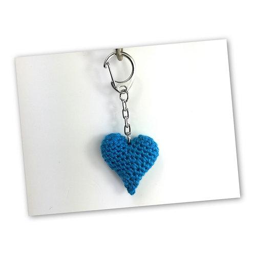 Schlüsselanhänger Herz meerblau
