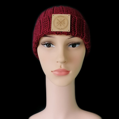 Modell Harry bordeaux handgestrickt