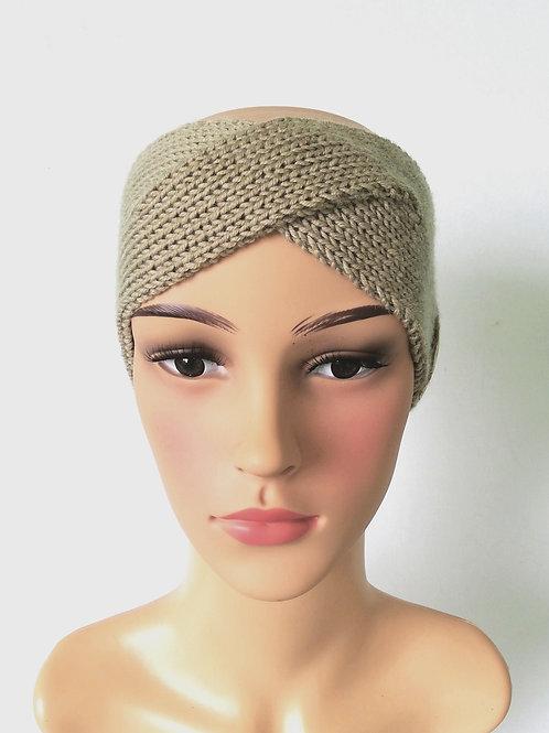Stirnband Twist Merino Sand