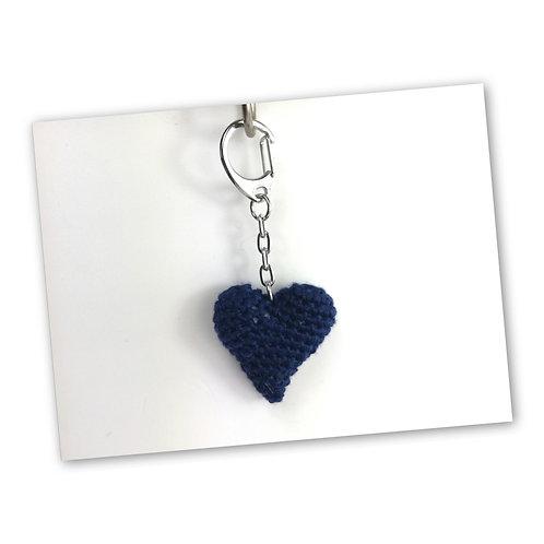 Schlüsselanhänger Herz marine