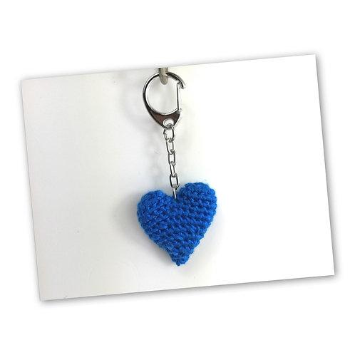 Schlüsselanhänger Herz enzian