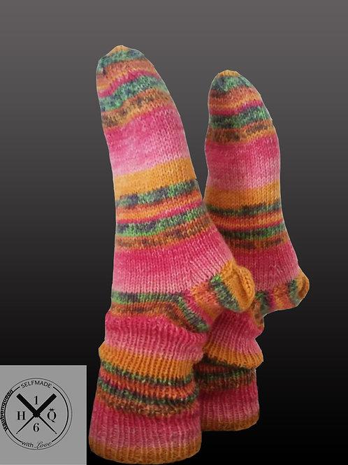 Socken pink gestreift