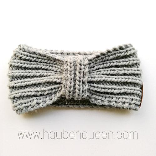 Stirnband bow Kiesel