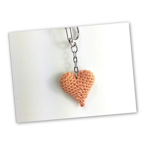 Schlüsselanhänger Herz teint