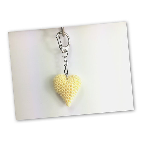 Schlüsselanhänger Herz natur