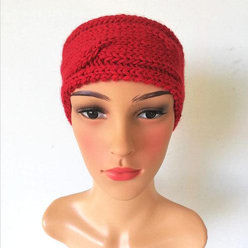 Zopfstirnband Rot
