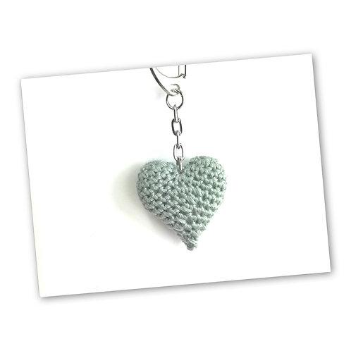 Schlüsselanhänger Herz grau