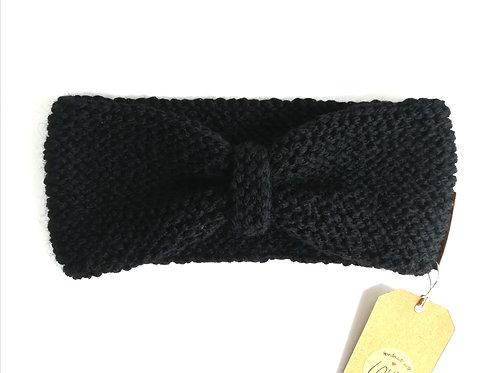 Stirnband Schleife schwarz