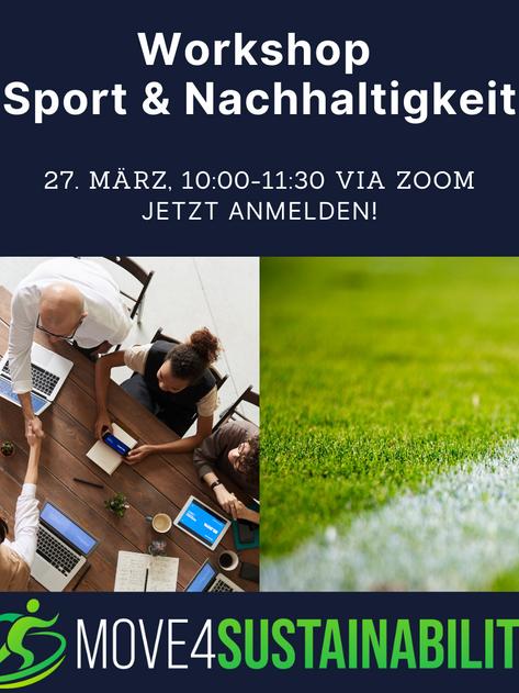 """Online Workshop """"Sport & Nachhaltigkeit - move4sustainability"""" am 27. März 2021"""