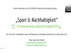 "1. Workshop ""Sport & Nachhaltigkeit - move4sustainability"""