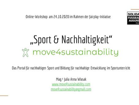 """1. Workshop """"Sport & Nachhaltigkeit - move4sustainability"""""""