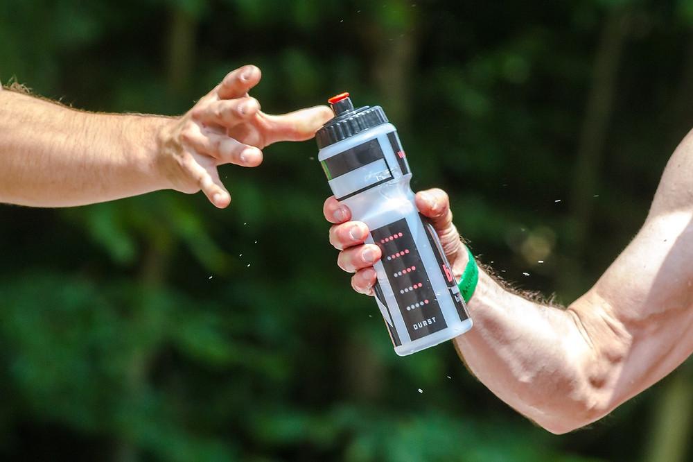 Sportflasche Wasser