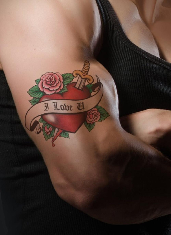 Tattoo Liebe Herz Muskeln