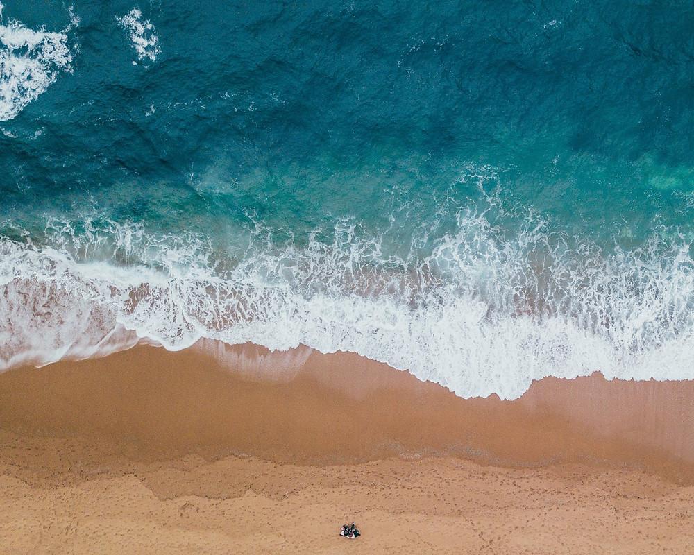 Ozean Sand Wellen