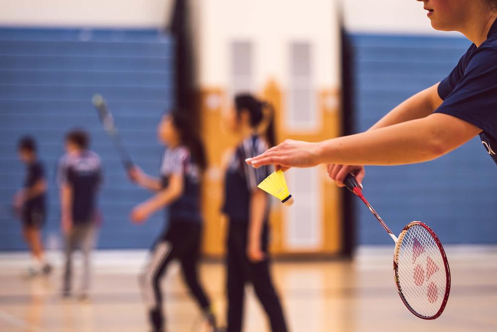 badminton school gym