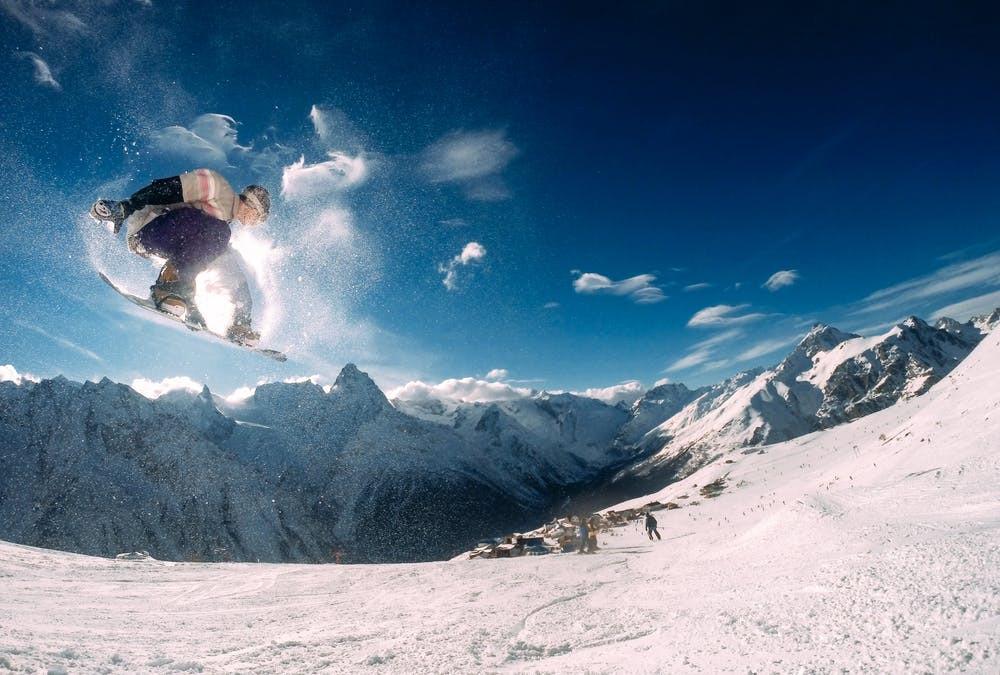 Snowboard Berge Schnee Piste