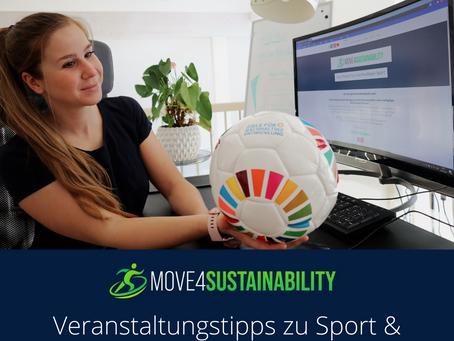 Veranstaltungstipps zu Sport & Nachhaltigkeit