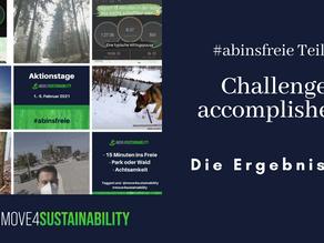 Challenge accomplished: Die Ergebnisse von #abinsfreie