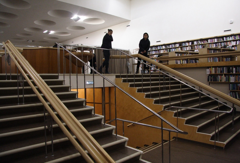 Viipuri Library by Alvar Aalto, the staircase.