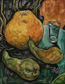 Still life with the glass
