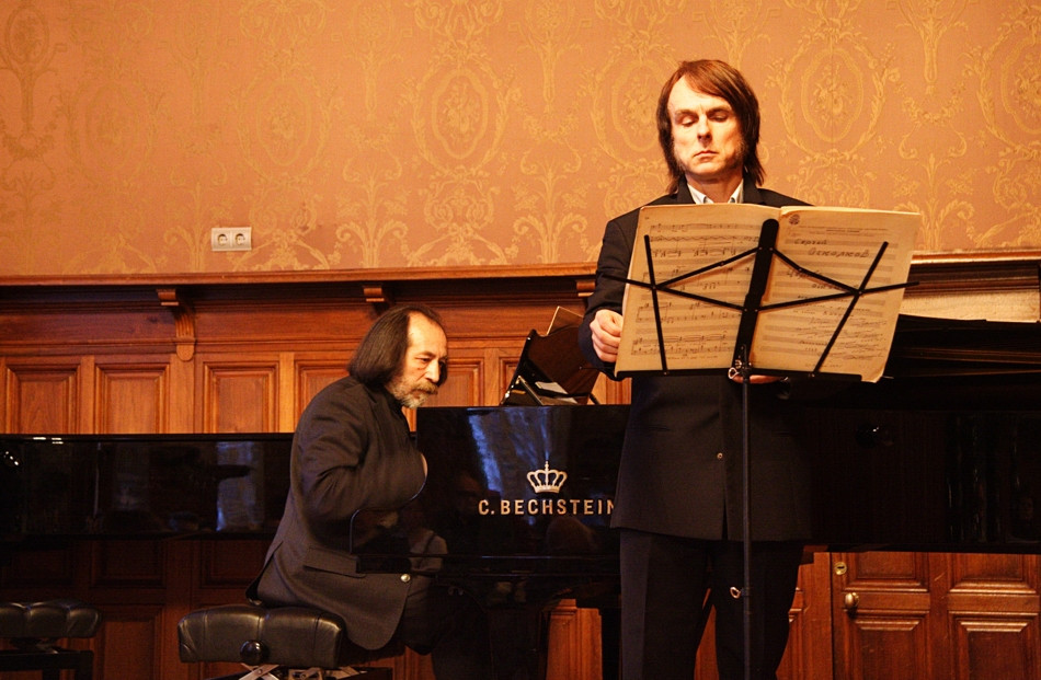 """At the concert, the Arts Festival """"Sergey Oskolkov and his friends""""."""
