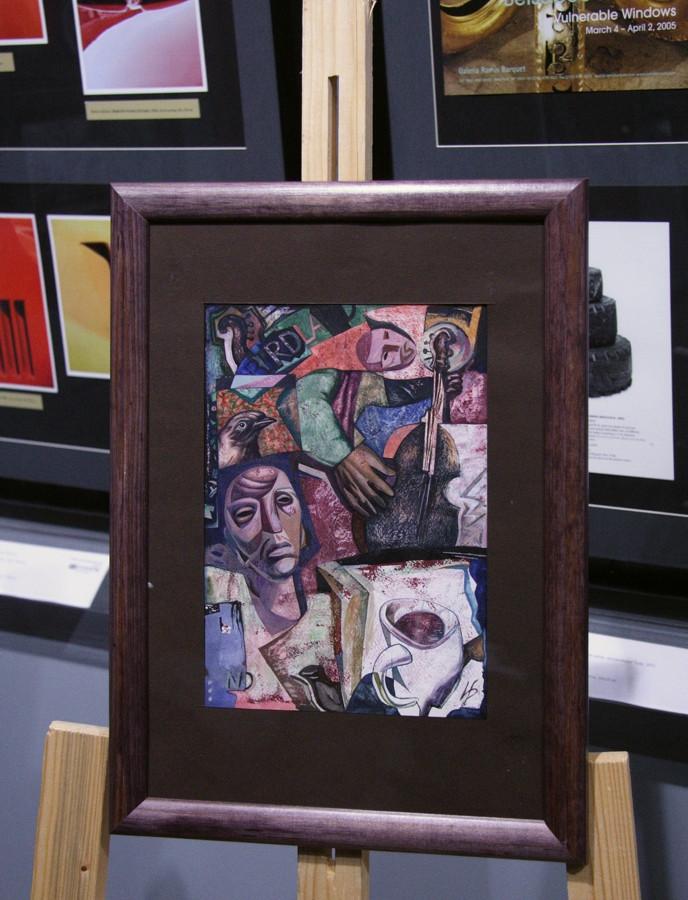 Jazz in New York, Ivashintsov's artwork at the show.