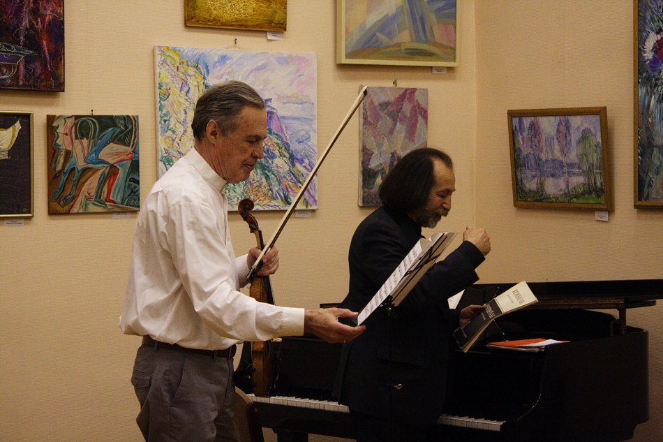 The concert and exhibition in the Peterhof Town Library.