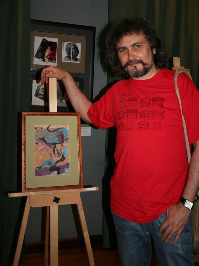 Artist Dmitry Ivashintsov and his work.