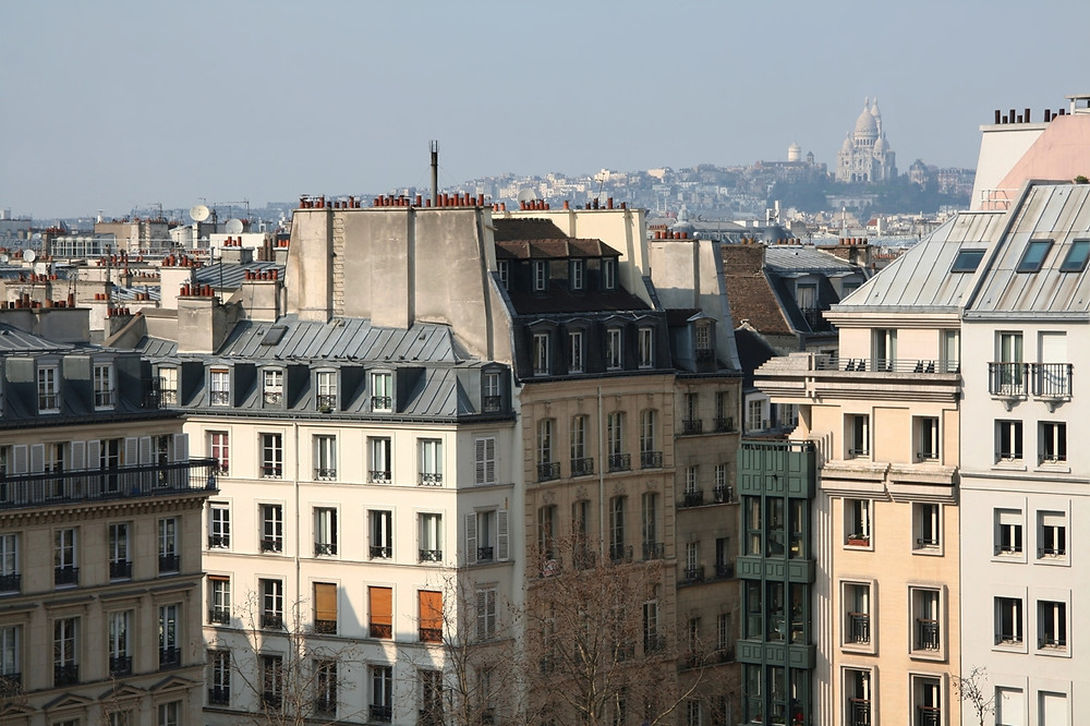 The view of Paris from the Centre Pompidou.