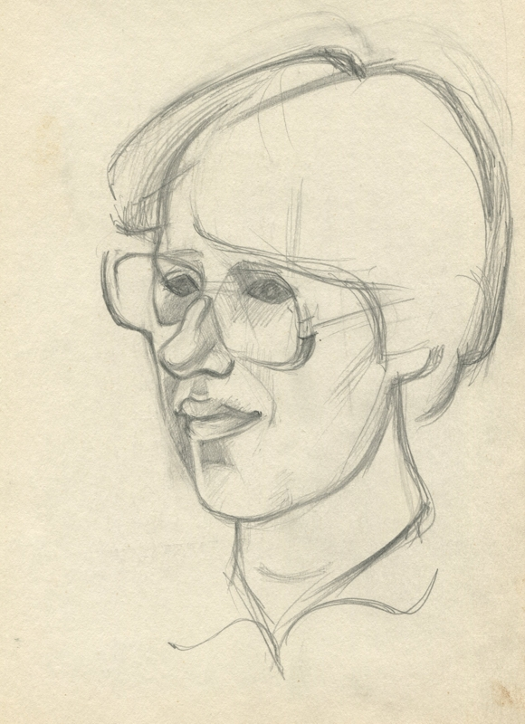 Julia, Portrait with glasses