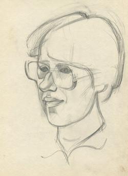 Julia, Portrait with glasses