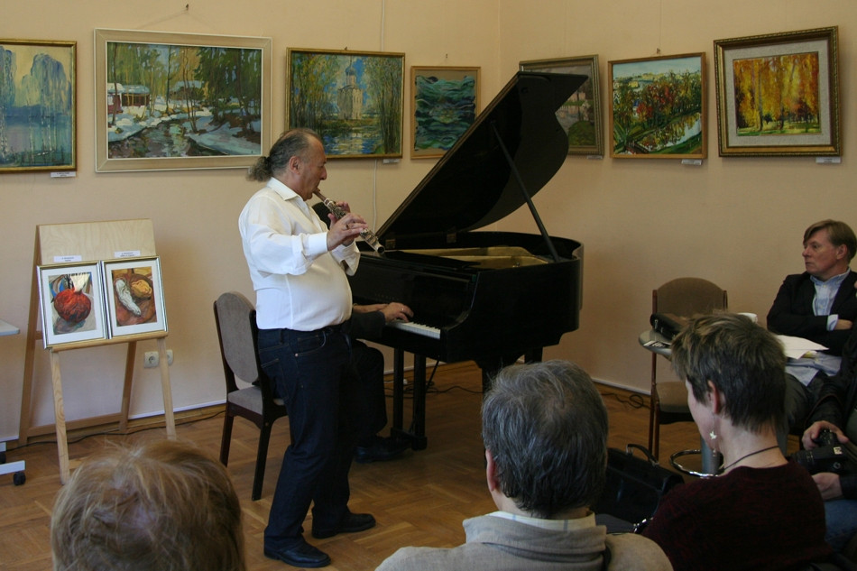 Concert and art exhibition in the Peterhof Library