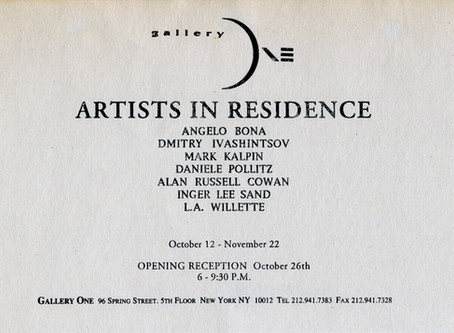 Gallery One. New York, 1993