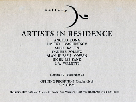Gallery One. New York, 1993