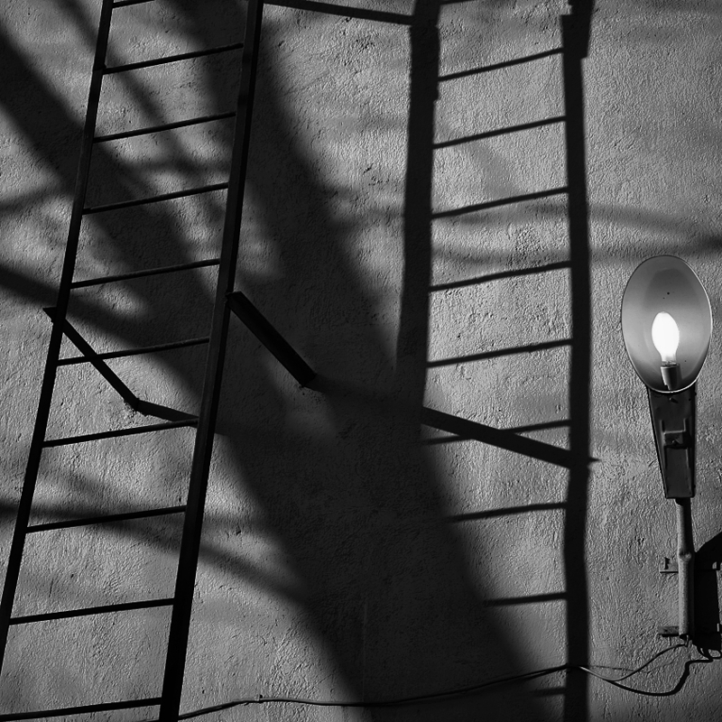 Ladder and Lamp