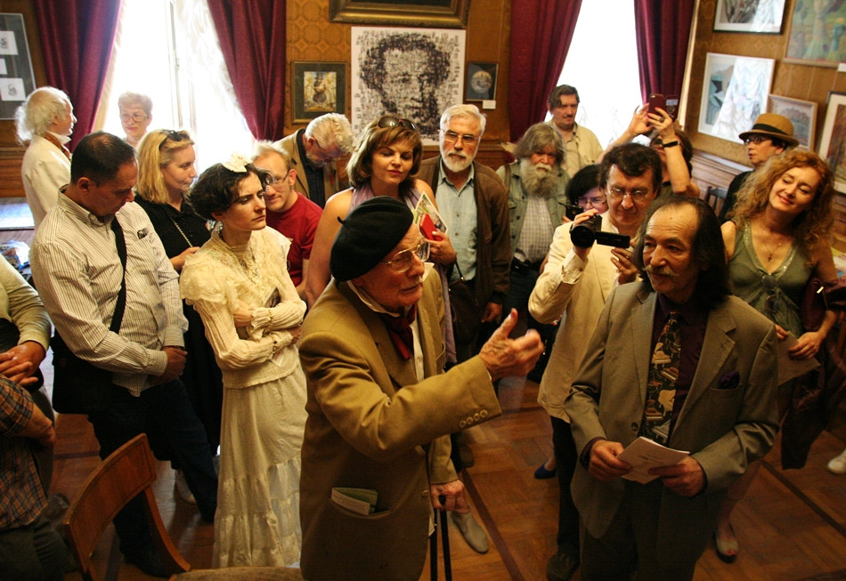 Opening of the art exhibition. Petersburg House of Composer.