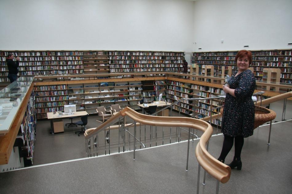 Interor of the Alvar Aalto Library.