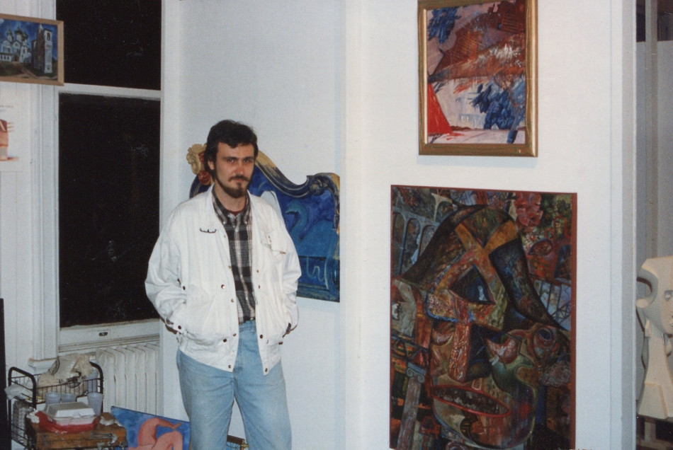 Opening reception. Artist Dmitry Ivashintsov and his paintings.