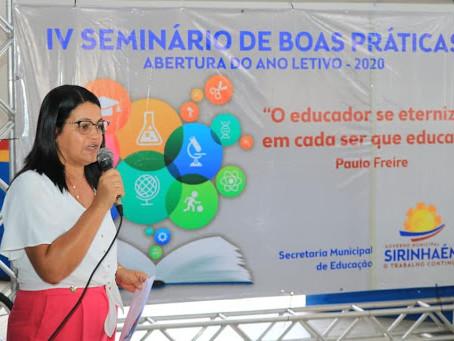 Secretária de Educação de Sirinhaém não sabe o que dizer sobre redução salarial de professores