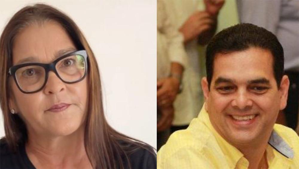 Isabel Hacker, prefeita de Rio Formoso, e Hildo Hacker, ex-prefeito de Tamandaré
